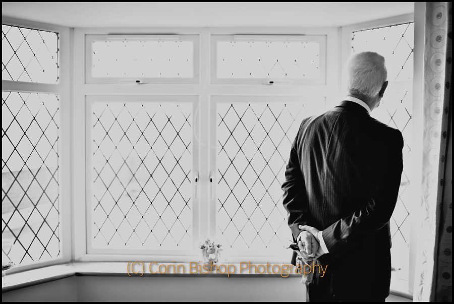 Father of the Bride Looking Out the Window