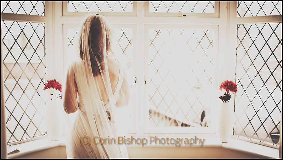 Bridal Portrait. Photograph of the Bride looking out of the window