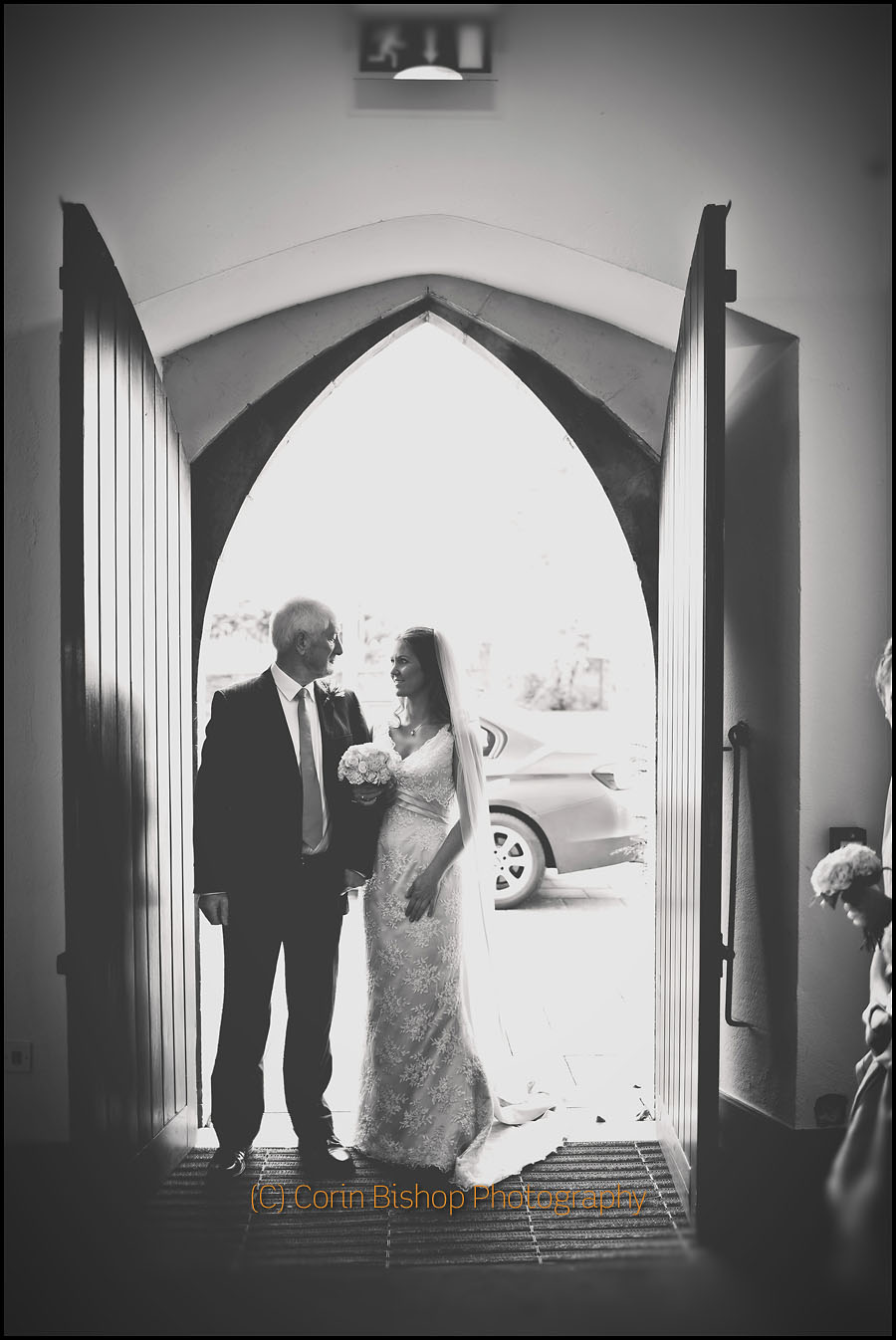 Lovely moment between the Bride and her Father before walking down the aisle