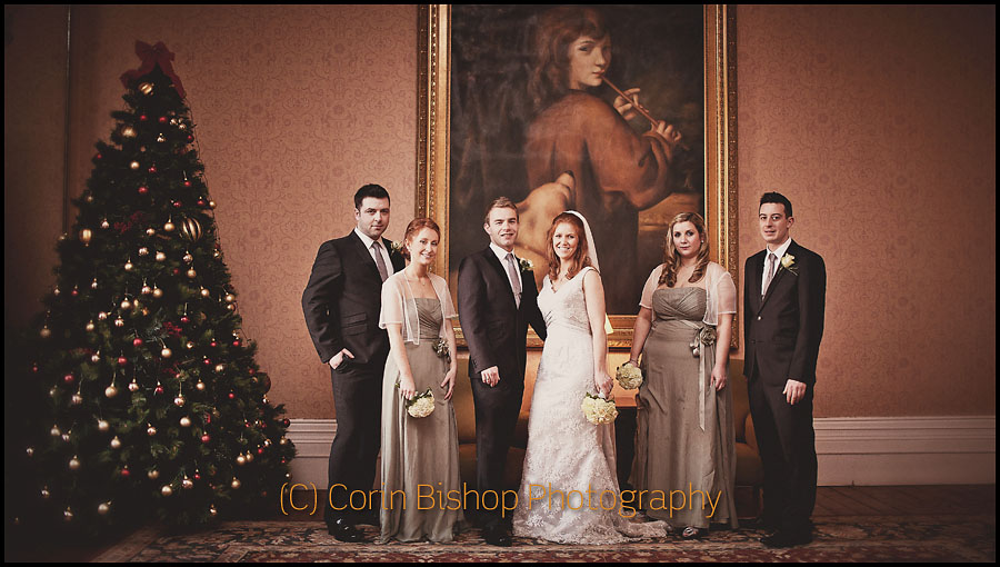 Bridal Party at Middle Park House Hotel Winter Wedding with Markus Feehily
