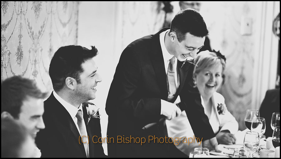 Lots more laughs at the wedding speeches