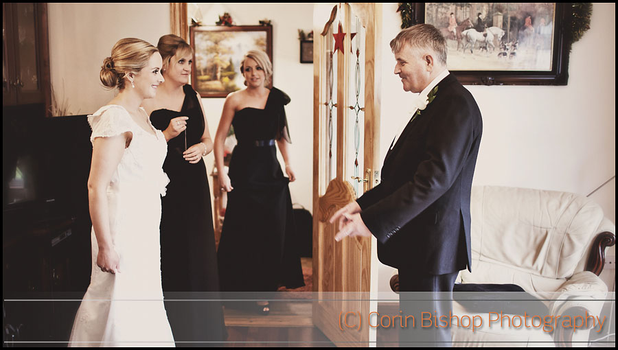 Dad seeing her Daughter for the first time in the Wedding Dress