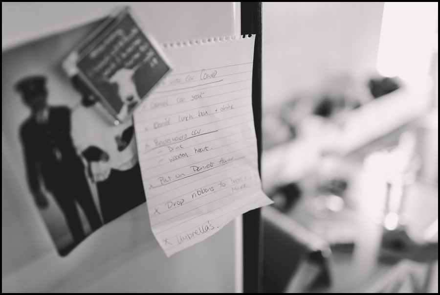 Notes for the Wedding Day.