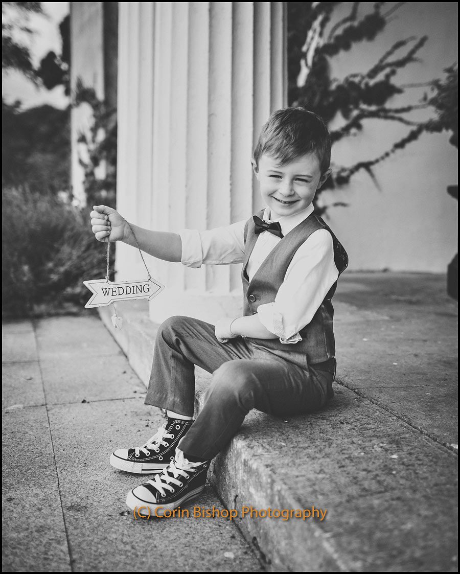 Shoot for wedding invites holding sign - Glasson