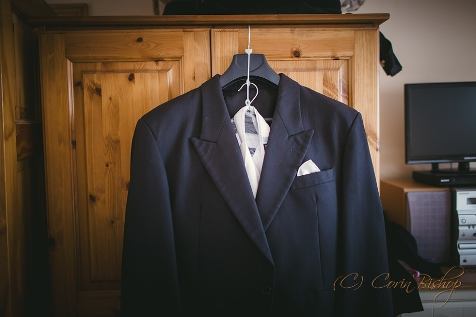 Grooms suit ready for the wedding