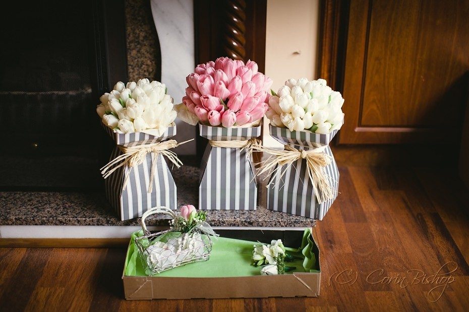 Pink and Cream Wedding Flowers