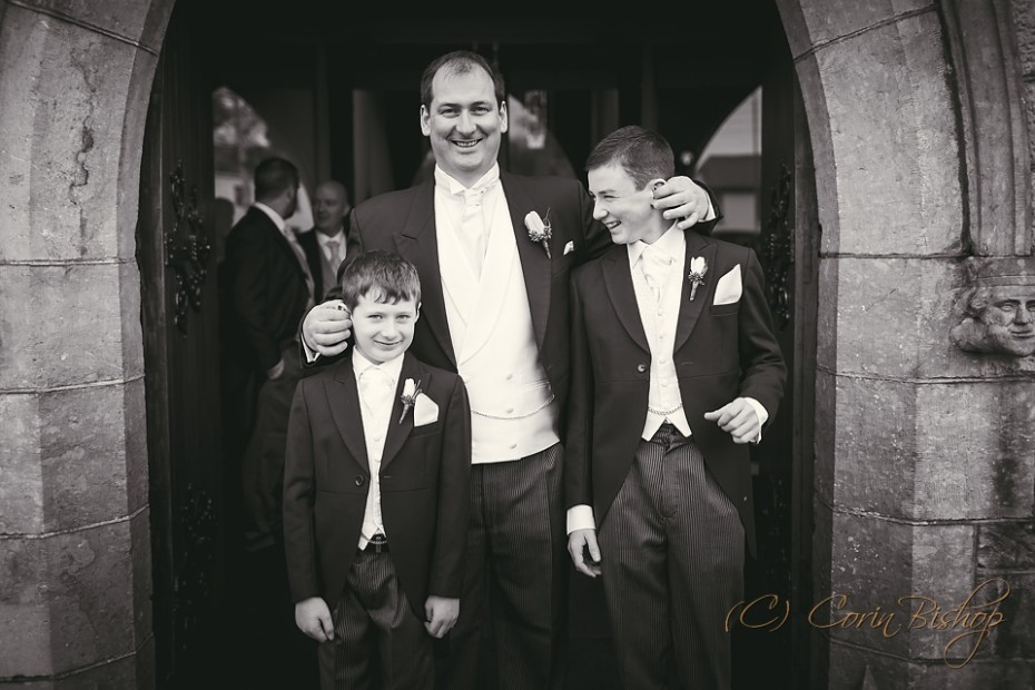 Groom with Pageboys Funny