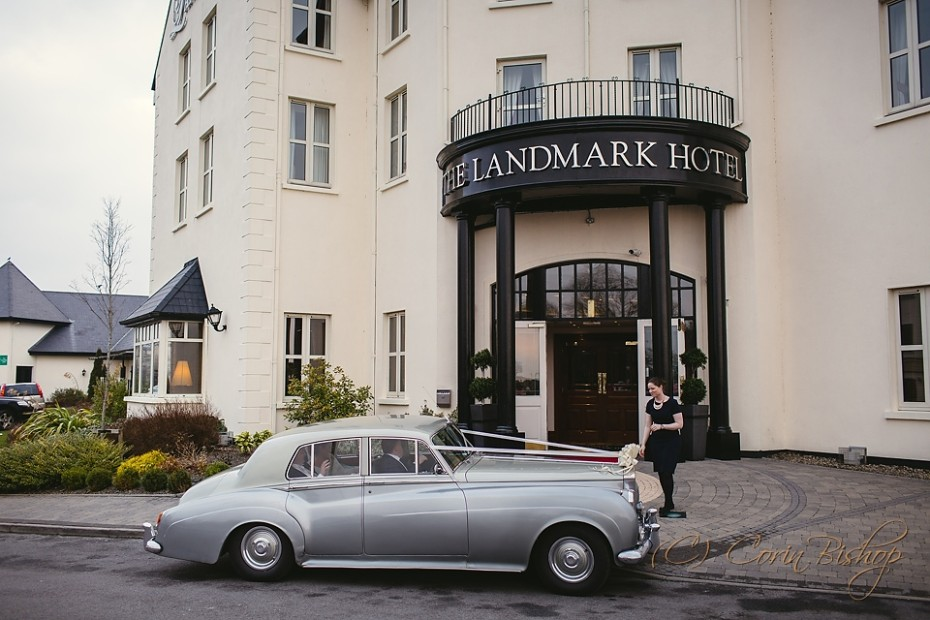 Wedding party arriving at the Landmark Hotel Carrick-on-shannon