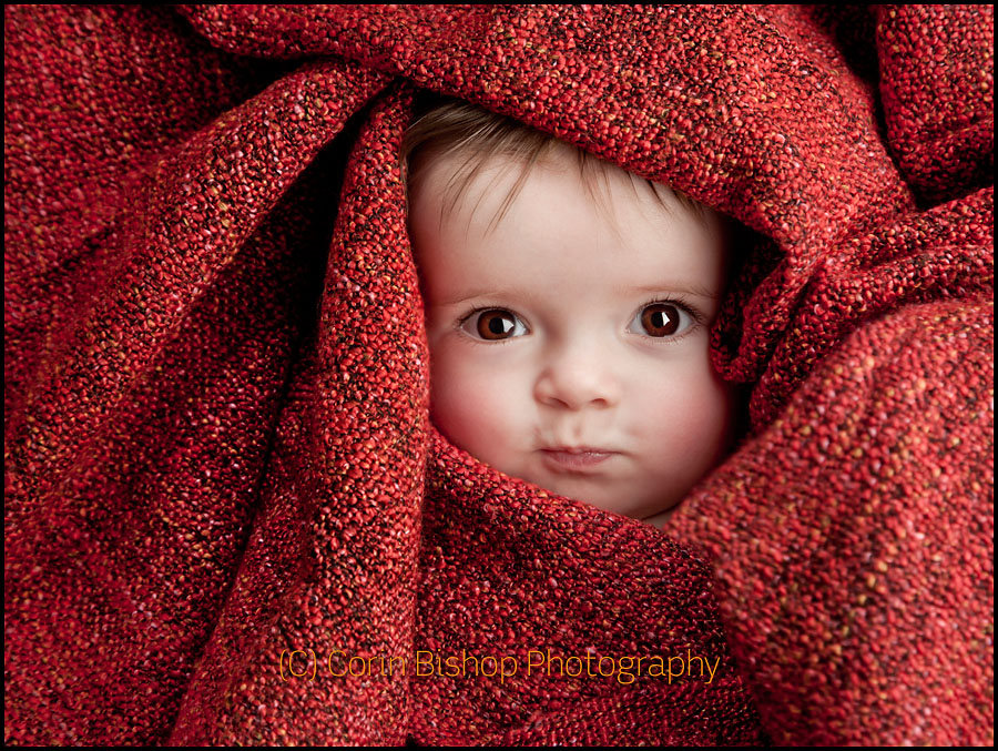 Beautiful Baby Portrait in Blankets