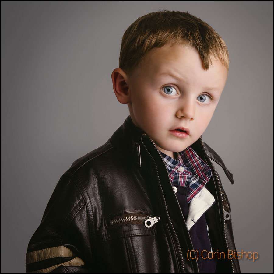 Dylan Bishop Child Portrait in Leather Jacket