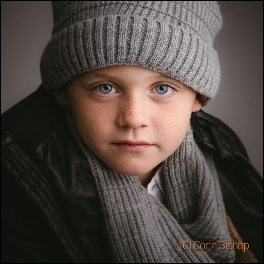 Alex Bishop. Child Portrait. Winter Style